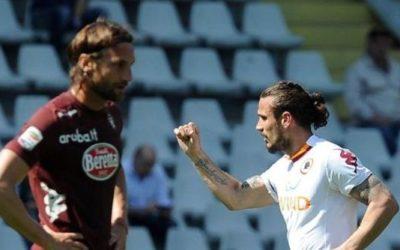 L'AS Roma vince a Torino grazie ai gol di Osvaldo e Lamela. Ora l'Europa League è più vicina. Raggiunte Lazio e Inter
