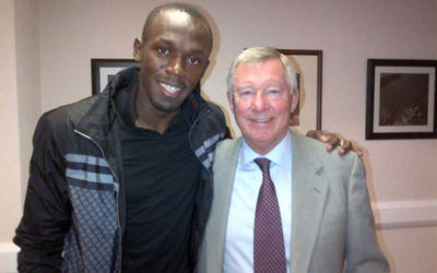 Sir Alex Ferguson, si inchina anche Usain Bolt
