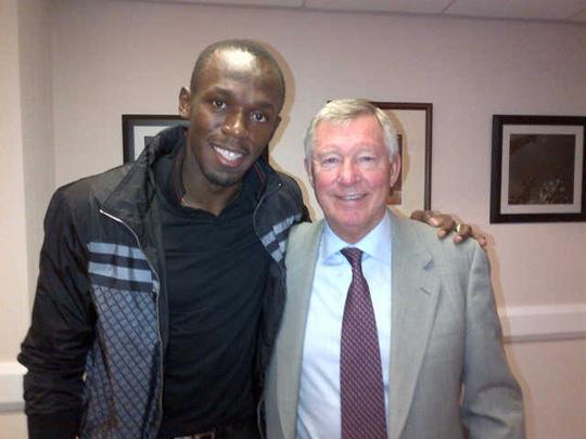 Sir Alex Ferguson, si inchina anche Usain Bolt