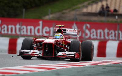Nel Gp di Spagna, al via alle 14, delude la Ferrari di Alonso, solo 5° posto. Vola la Mercedes, Pole di Rosberg e 2° Hamilton. Massa penalizzato