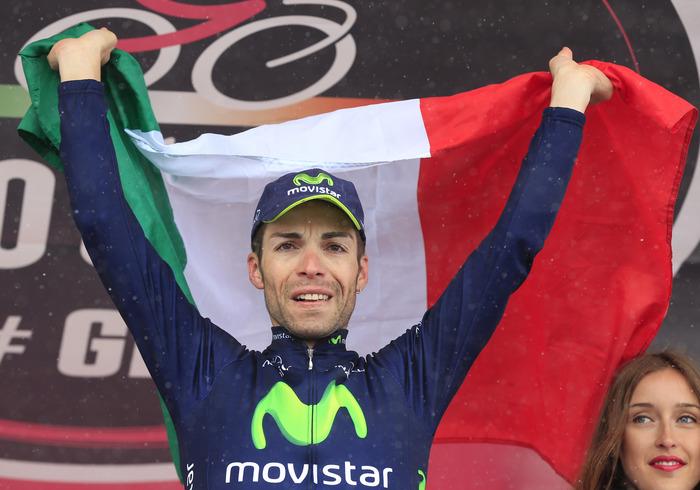 GIRO D'ITALIA – Giovanni Visconti vince la sua seconda tappa in questa edizione del Giro d'Italia. Dopo il Galibier, il siciliano del Team Movistar si ripete a Vicenza