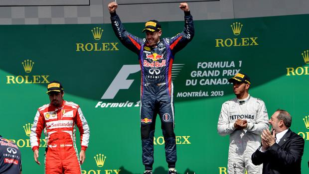 FORMULA 1 – In Canada vince Vettel. Alonso e la sua Ferrari arrivano secondi dopo una grande gara. Completa il podio Hamilton