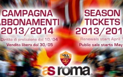 AS ROMA – Dal 10 giugno è aperta la vendita libera per la sottoscrizione dei nuovi abbonamenti per qualsiasi settore