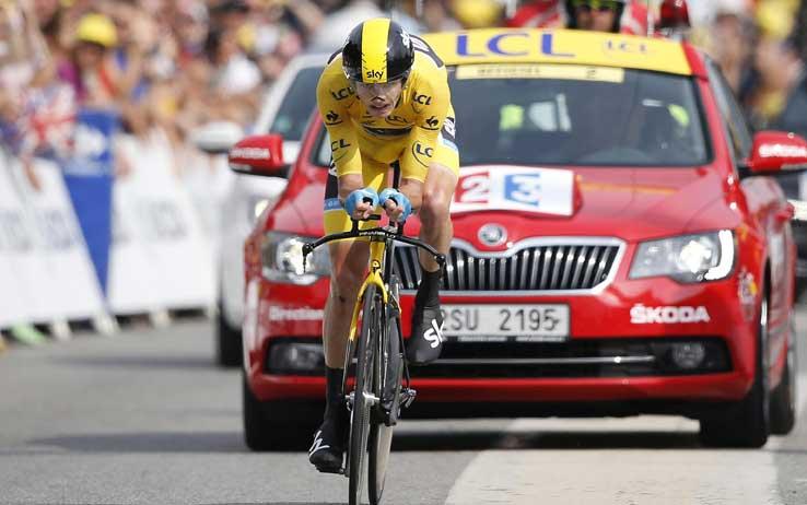 News Ciclsimo | Tour de France – Altra vittoria per il leader Chris Froome. Battuto Contador anche nella cronometro