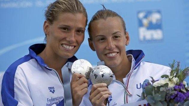 MONDIALI TUFFI – A Barcellona la coppia Azzurra Cagnotto-Dallapè conquista l'argento nel sincro