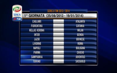 SERIE A – Ecco il calendario della stagione 2013/14. Parte forte la Juve, il Derby Roma-Lazio alla 4/a giornata