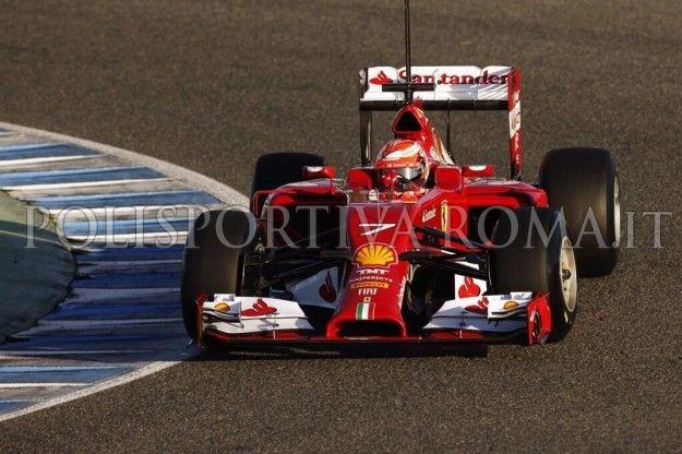 FORMULA 1 – Bene la Ferrari con Raikkonen, nel primo giorno di test della nuova F14 T