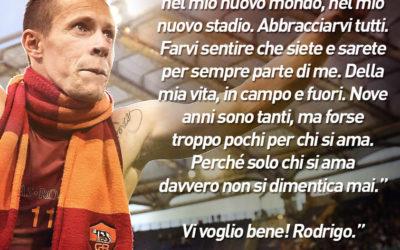 AS ROMA NEWS – Lasciato dalla società, Rodrigo firma per il Perugia. Per il popolo Giallorosso, parole d'amore!