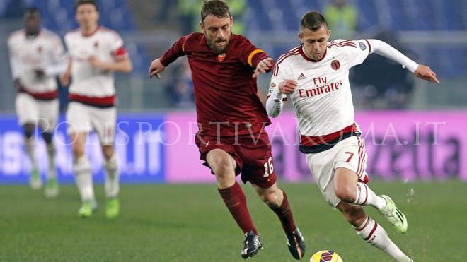 AS ROMA SERIE A – Roma-Milan 0-0, la Roma spreca con Gervinho, rossoneri in dieci uomini