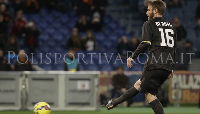 AS Roma Coppa Italia – Contro l'Empoli decide De Rossi su rigore: Roma ai quarti