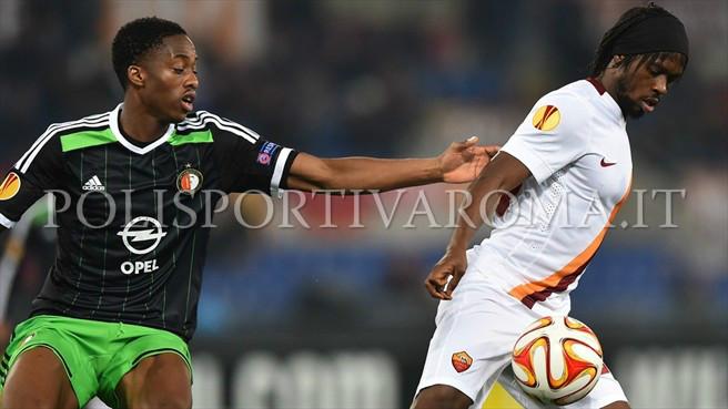 AS ROMA EUROPA LEAGUE – La Roma pareggia anche in Europa, Gervinho non basta: col Feyenoord finisce 1-1