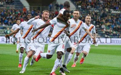 AS ROMA SERIE A – Primo gol in Giallorosso di Doumbia. 3-0 al Sassuolo per sperare nella Champions