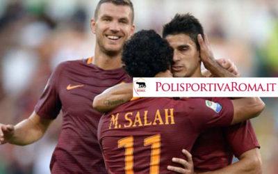 AS ROMA SERIE A – Perotti Dzeko e Salah, Poker alla prima per i Giallorossi