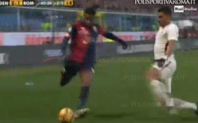 AS ROMA SERIE A – Vittoria con autorete contro il Genoa