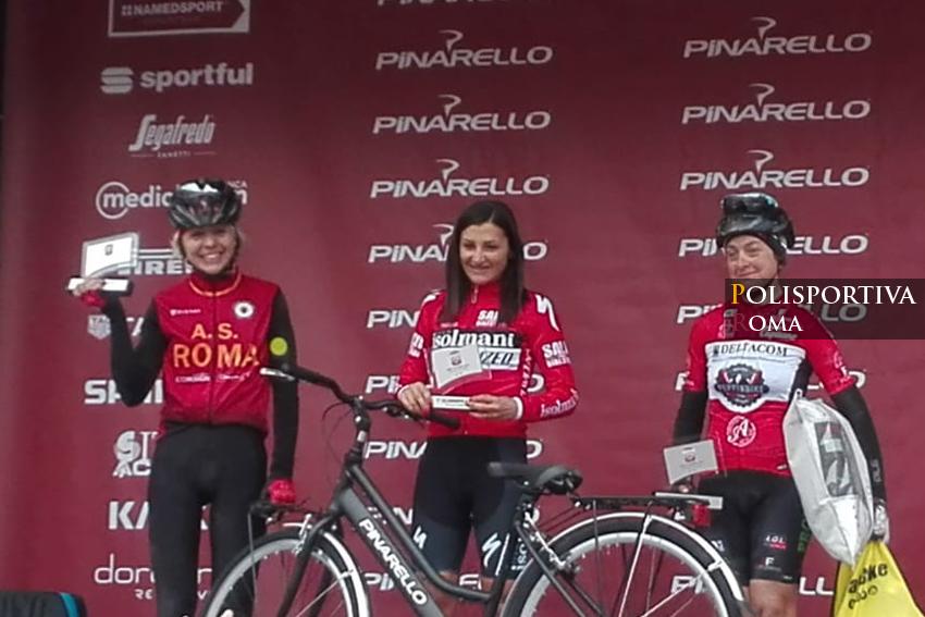 """L'AS Roma Ciclismo è argento nella """"Strade Bianche"""" con Claudia Gentili"""