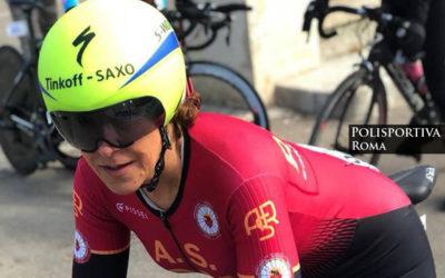 Elisa Rigon dell'AS Roma Ciclismo, una Giallorossa in Maglia Azzurra